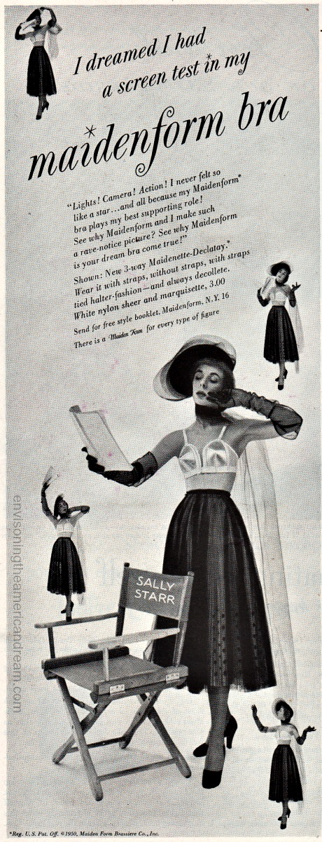 vintage ad 1953 Maidenform Bra Actress