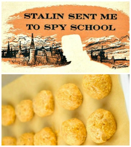 cold war spy headline and matzo ball