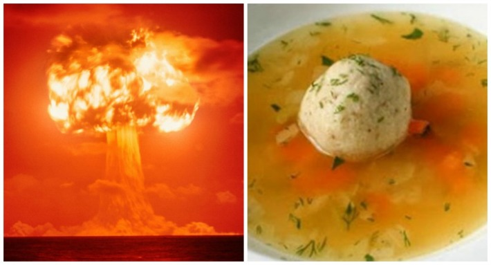 Nuclear blast and matzo ball