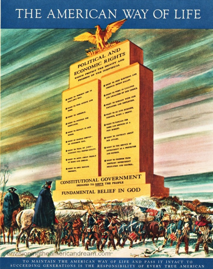 Vintage Illustration 1956 Monument to American Freedom
