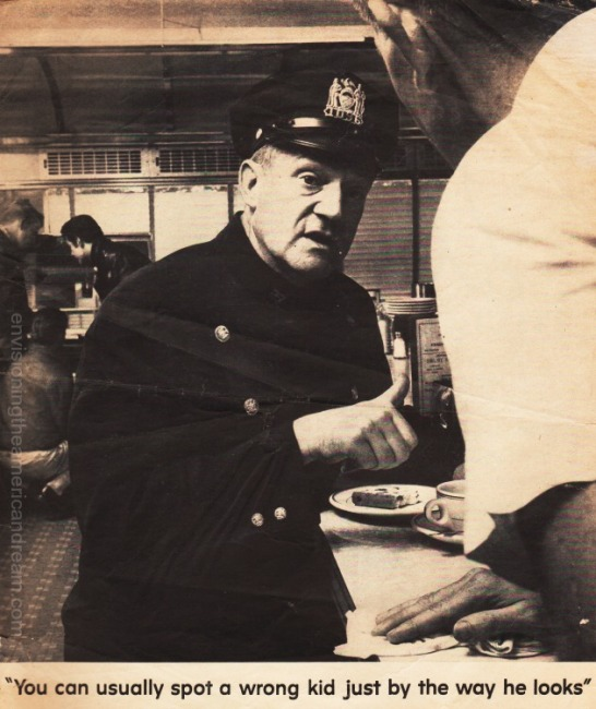 vintage photo policeman sitting at lunch counter