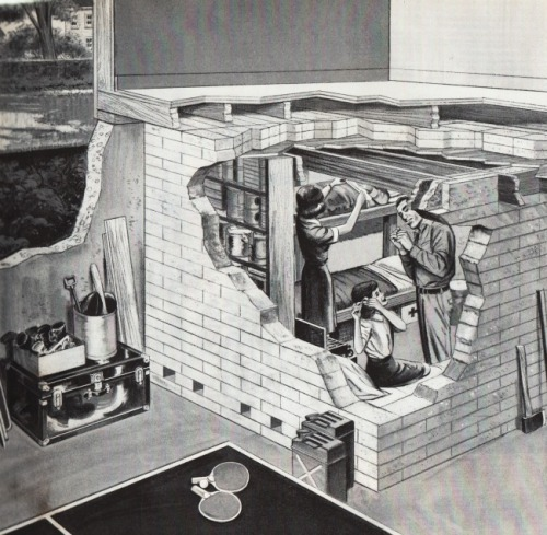 Basement Fallout Shelter Life Magazine Sept. 15, 1961