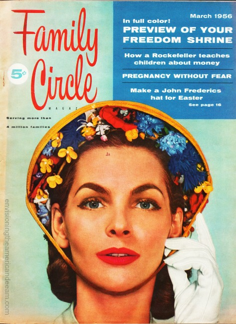 Vintage Cover Family Circle Magazine March 1956