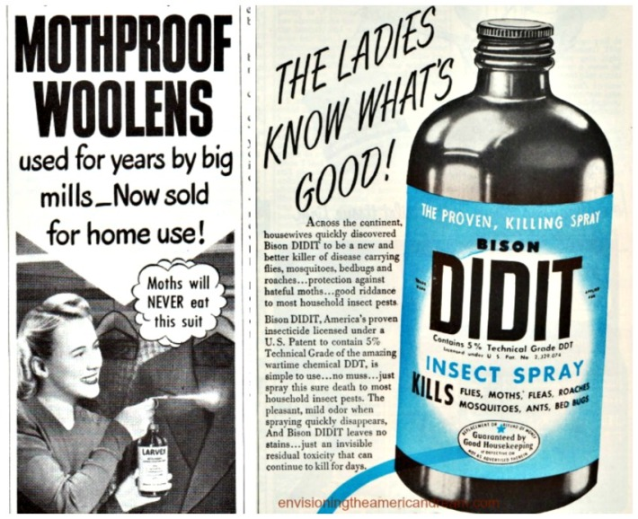 Vintage Ad for DDT Insect Spary and Larvex Moth Proofing