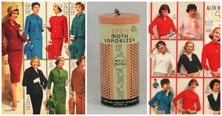Vintage Fashion ads women 1950s and Moth Vaporizer