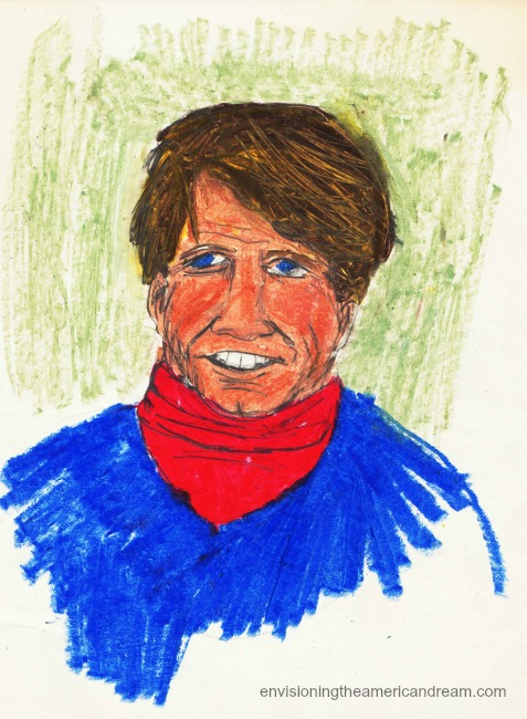 drawing of Robert Kennedy by Sally Edelstein