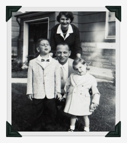personal family photo 1950s family