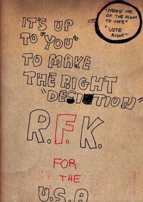 handmade poster RFK for President 1968