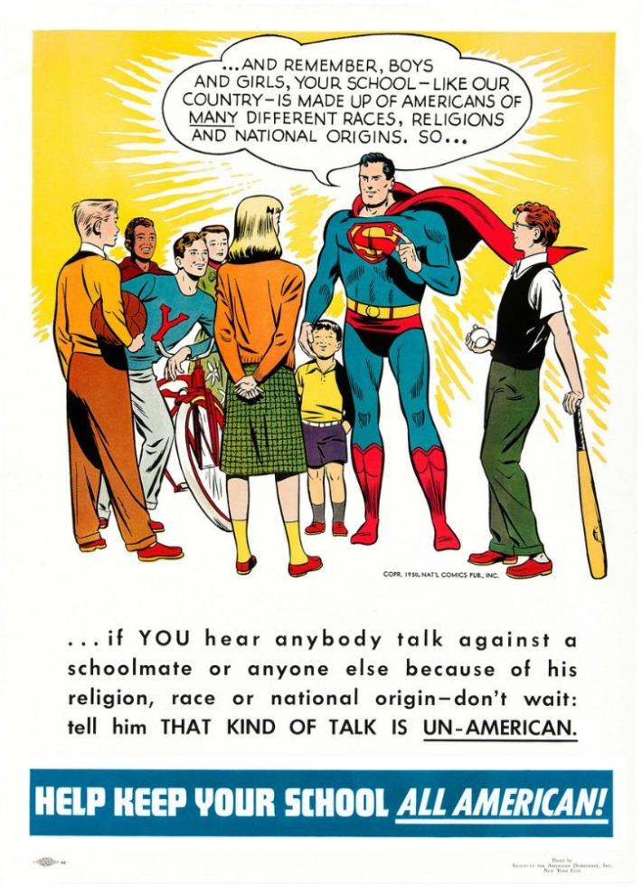 Vintage Poster Superman Diversity