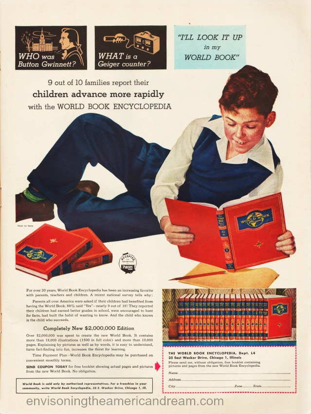 Vintage advertisement World Book Encyclopedia .