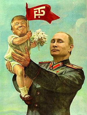 Trump and Putin Soviet Era Poster | Envisioning The American Dream