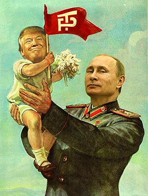 Putin and Donald Trump in Soviet style