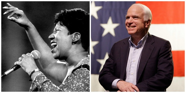 Aretha Franklin And John McCain