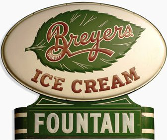 Vintage Breyers Ice Cream Sign