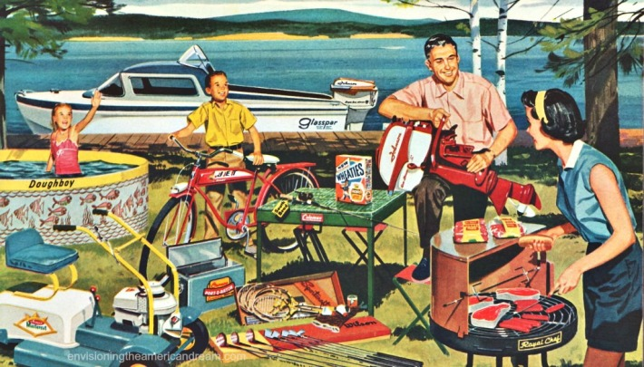Vintage illustration American Family and Consumers
