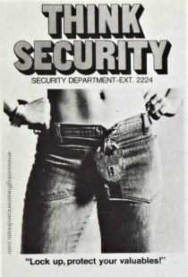 vintage security poster