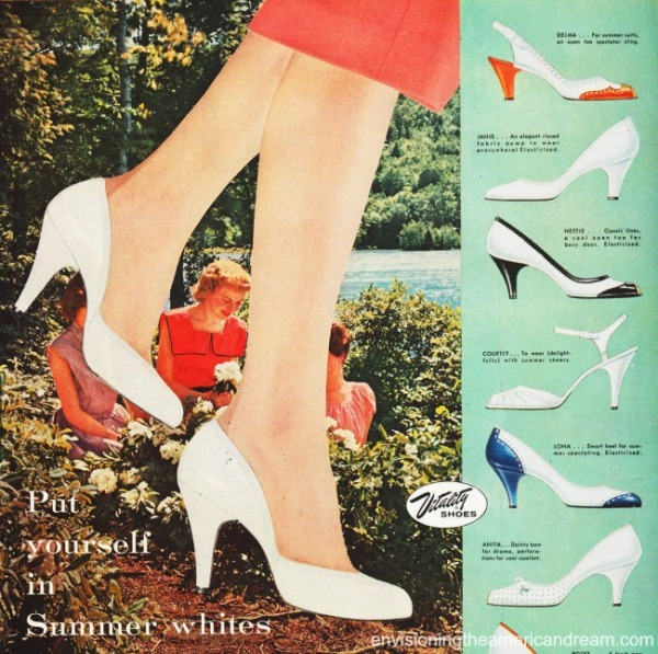 women white shoes vintage