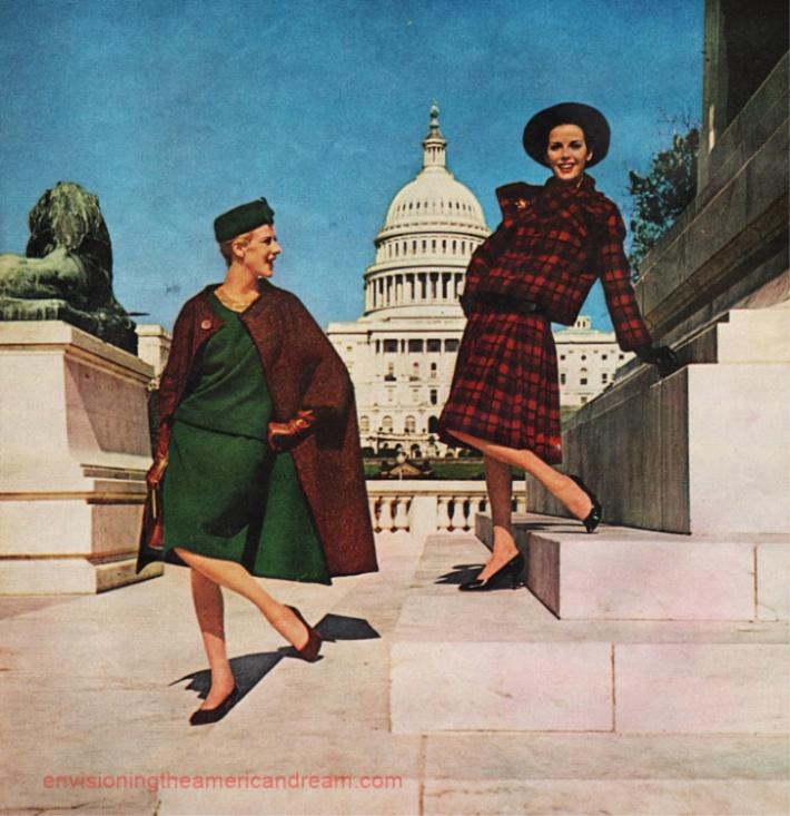 Vintage Fashion model Washington DC Capitol 1960