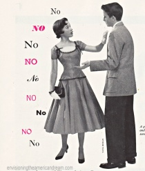 Vintage couple No Means No