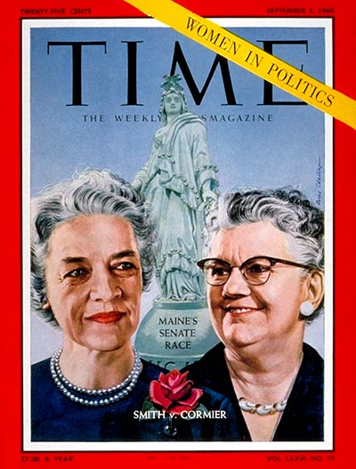 Margaret Chase Smith and Lucia Cormier Time Cover 1960