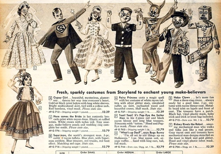 vintage costumees catalog page