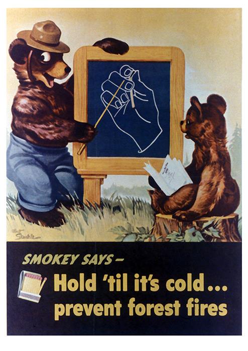 Early Vintage Smokey Bear Poster