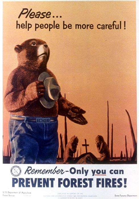 Vintage Smokey Bear Poster 1953