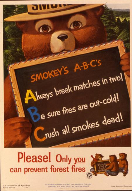 Vintage Smokey Bear Poster