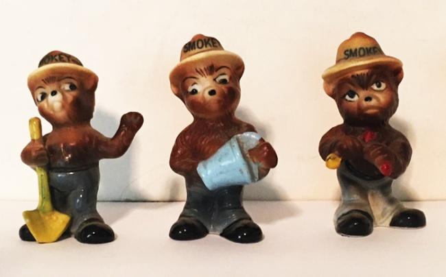 Vintage Smokey the Bear Figurines