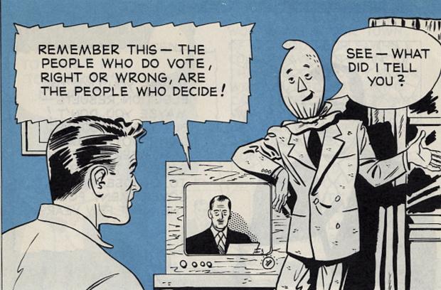 vintage comic Voting Importance