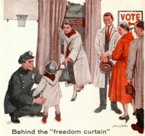 Vintage Illustration Voters