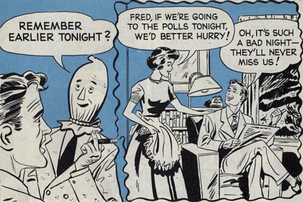Comics 1950s voting