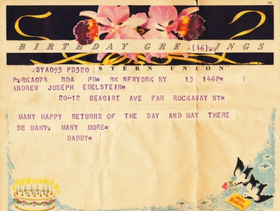 Telegram Happy Birthday 1953