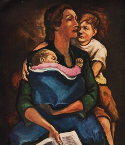 painting immugrant mother and children