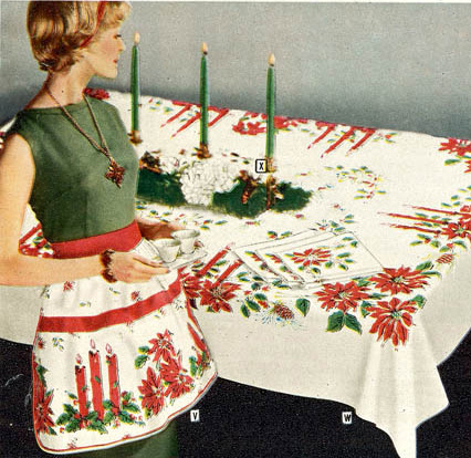 vintage Housewife decorating Xmas table