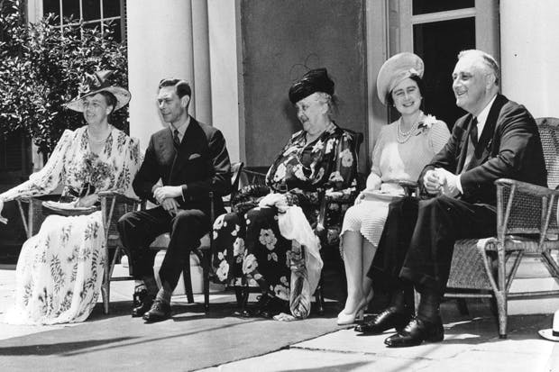 King George VI , Queen Elizabeth and The Roosevelts at Hyde Park June 1939
