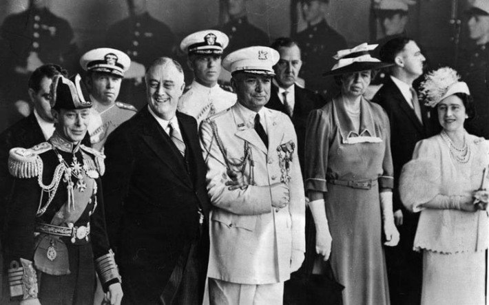 King George VI visit to the US with FDR, Eleanor Roosvelt, Queen Elizabeth