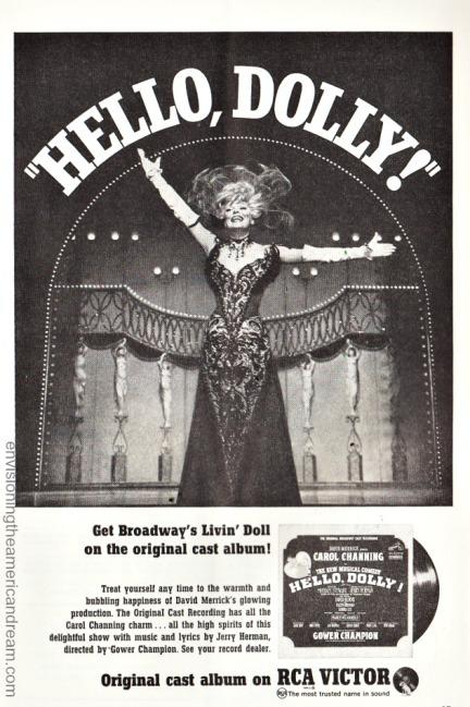 Hello Dolly ad Cast Album Carol Channing