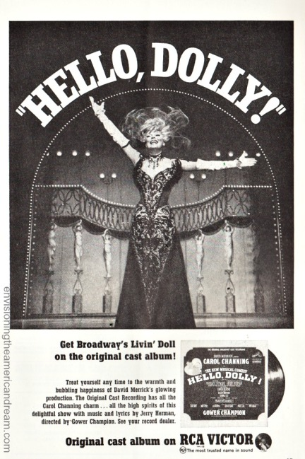 Hello Dolly ad Cast Album Carol Channing