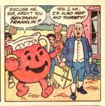 Kool Aid Man and Ben Franklin Comic Book