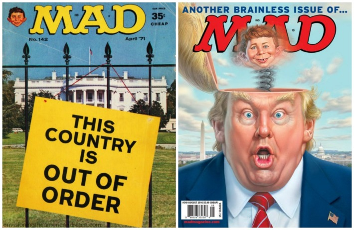 vintage MAD Magazine covers Nixon era and Trump