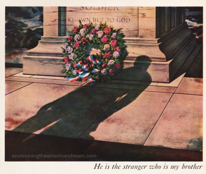 vintage illustration Tomb of the Unknown Soldier