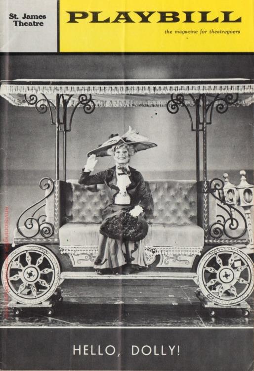 Vintage Playbill Hello Dolly