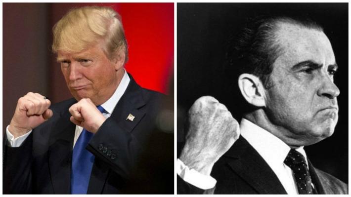 Donald Trump and Richard Nixon