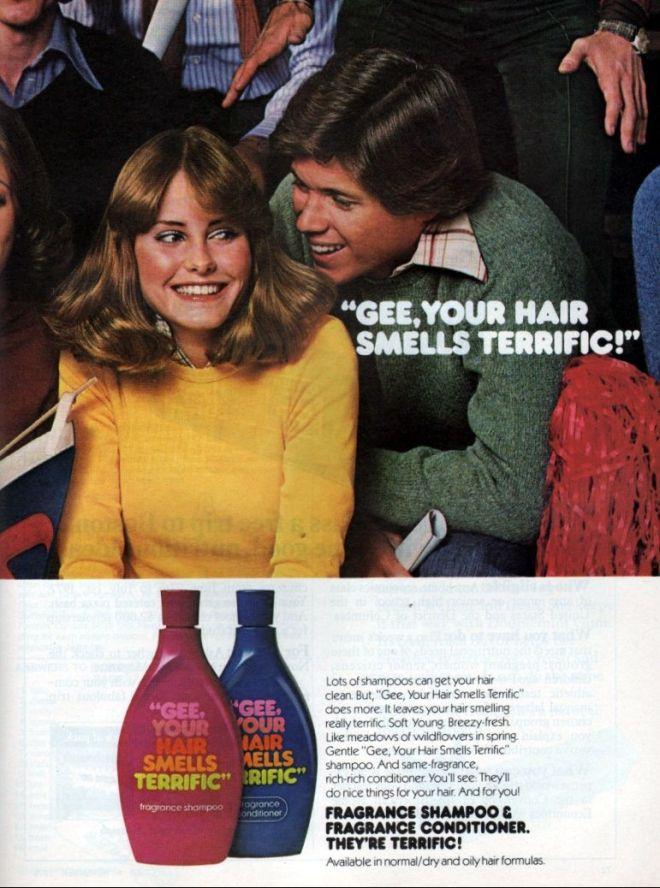 Vintage shampoo ads