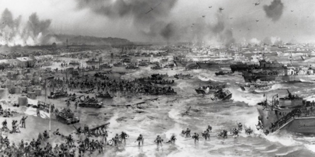 The landing in Normandy D-Day June 6, 1944