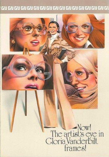 Vintage Gloria Vanderbilt Eye Glass Ad 1976