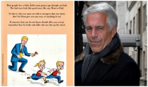 Vintage School book Jeffrey Epstein