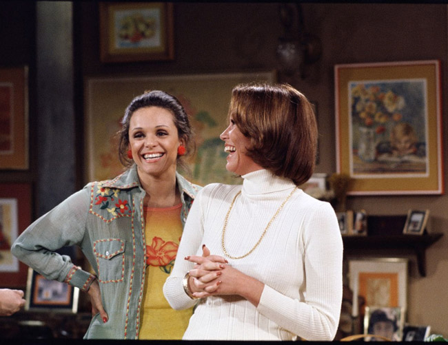 Valerie Harper and Mary Tyler Moore on The Mary Tyler Moore Show