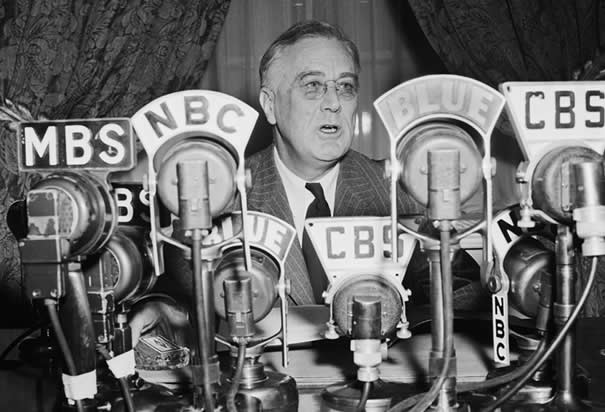 FDR Fireside chat radio broadcast